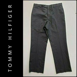 Tommy Hilfiger Flat Front Pinstripe Dress Pants